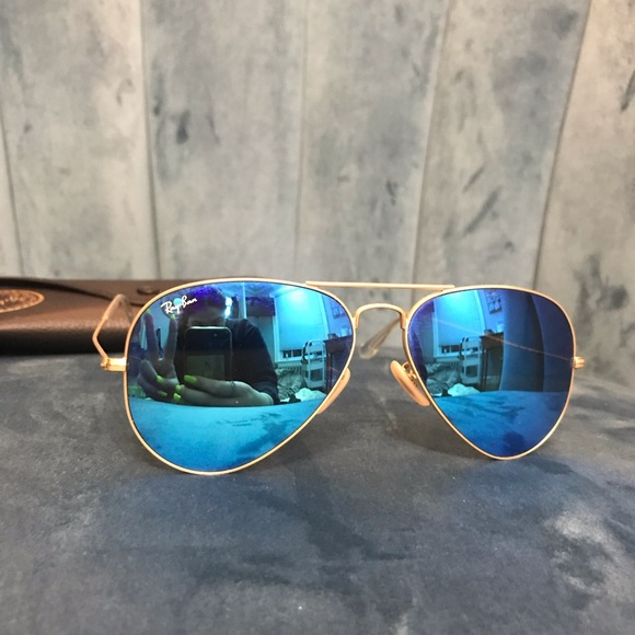 Ray-Ban Accessories - Ray-Ban Aviator Blue Flash Sunglasses